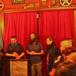 Fadi Abdelnour (linnks) und Guy Dermosessian bei der Eröffnung des HUNA/K 2015 im Roxy Kino Dortmund