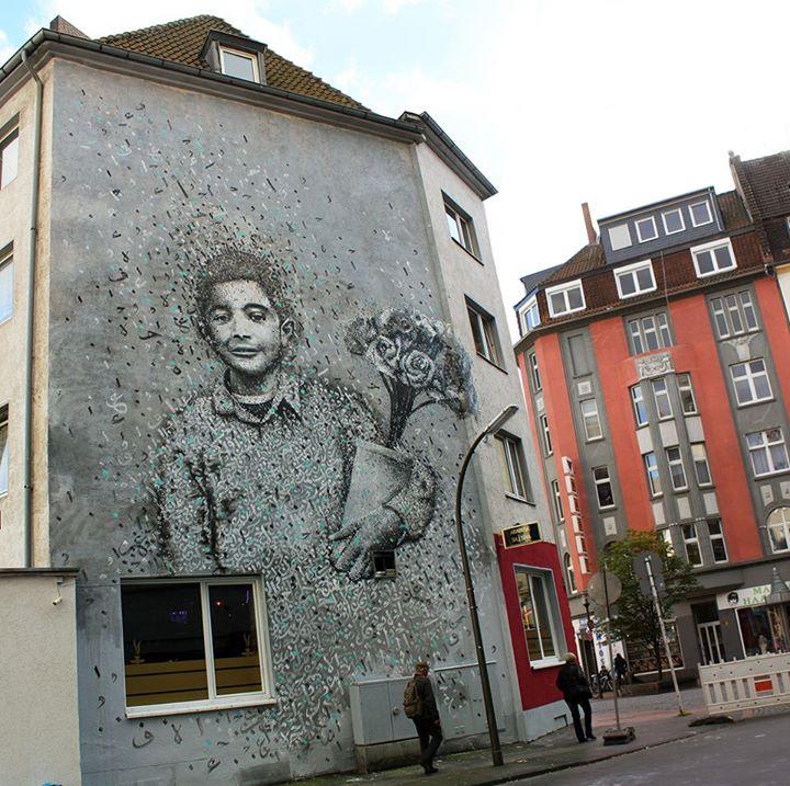 """Das Mural """"The Flower Salesman"""" an der Münsterstraße. / Foto: Yasan Halwani"""