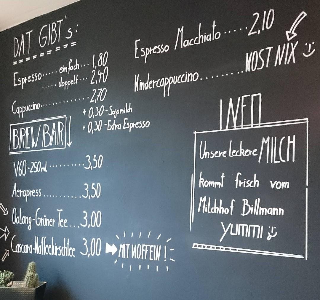 Getränkekarte im Neuen Schwarz, Dortmund